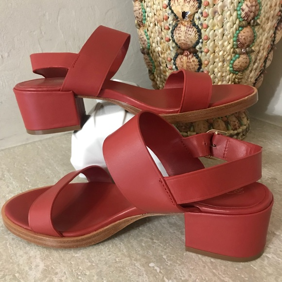 Brooks Brothers Red Low Open Toe Sandal
